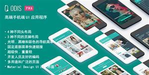 高端手机应用程序UI界面H5模板