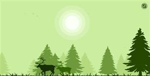 React绘制的树林风景网页代码