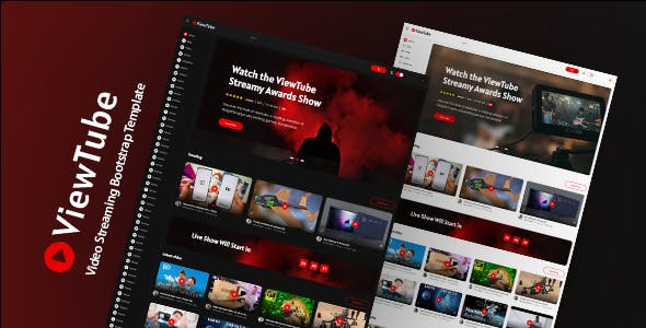 视频分享播放网站bootstrap模板