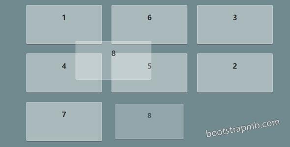 Angular网页上拖拽排序div特效