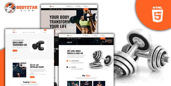 HTML5运动健身房设备网站模板