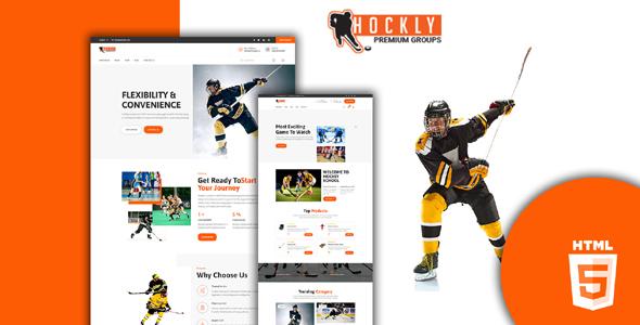 曲棍球体育运动网站web模板源码下载