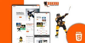 曲棍球体育运动网站web模板