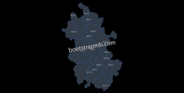echarts安徽省地图划分js代码
