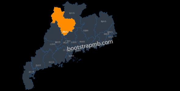 echarts+json广东省地图代码