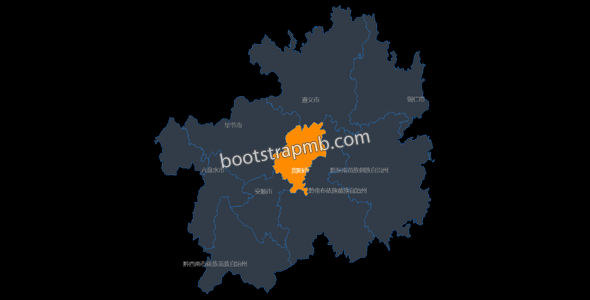 echarts贵州省地图代码下载