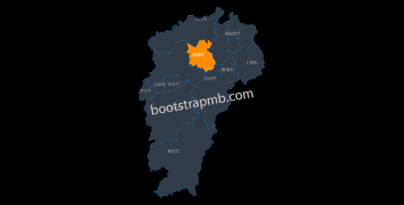 echarts江西省地图网页代码