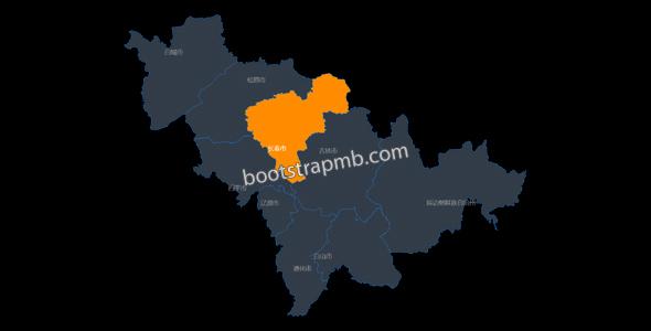 吉林省地图html网页代码源码下载