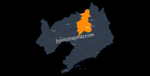 echarts jquery辽宁省地图代码