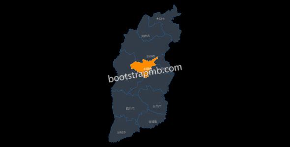 山西省市划分地图js插件源码下载