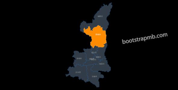 陕西省地图JavaScript插件网页代码源码下载