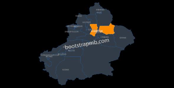 新疆地图网页代码JavaScript源码下载