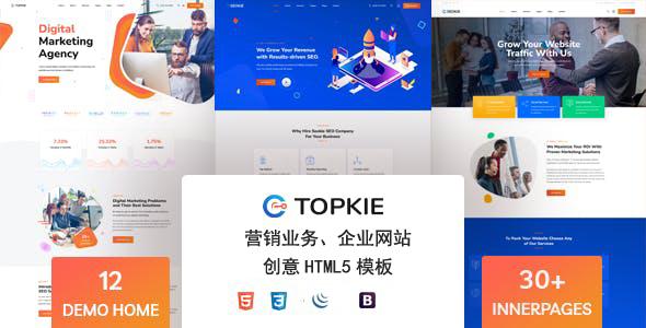 创意UI数字营销业务HTML5模板