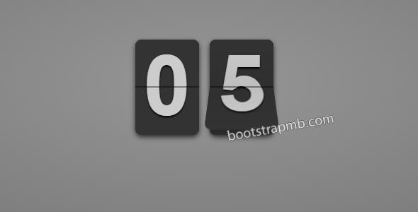 jQuery+CSS3卡片翻转数字秒表计时器