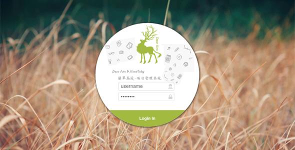 创意圆形登录界面html模板