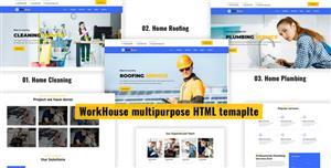 多用途的家庭维修服务网页模板