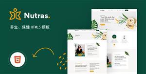 健康养生保健网站HTML5模板