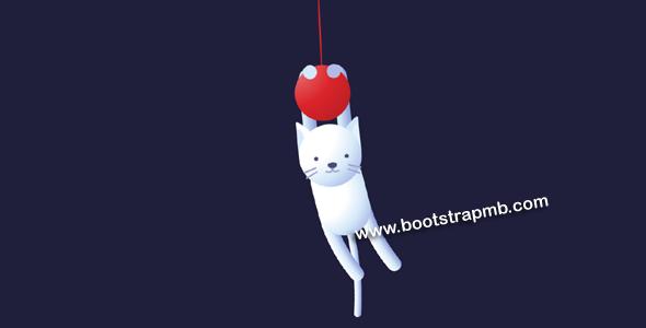 猫咪吊坠左右晃动css3动画特效源码下载
