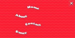 anime.js创意波浪全屏导航菜单