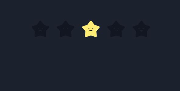 创意动画效果星星打分js特效源码下载