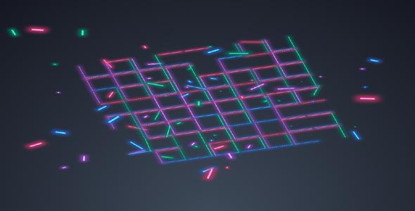 炫酷线条网格破碎Gsap动画特效