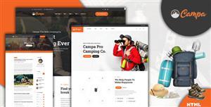 户外探险服务和装备网站模板