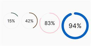 环形进度百分比js插件