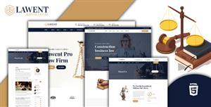 大气的律师法律业务网站模板