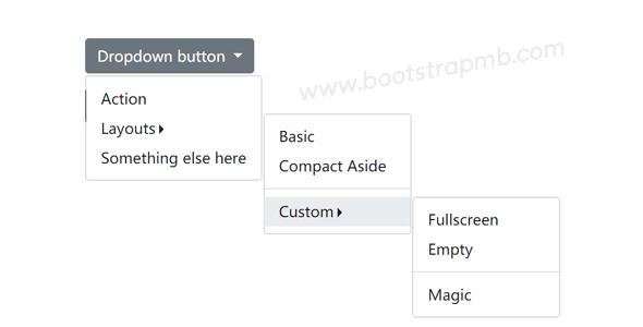 bootstrap多级Dropdown下拉框插件