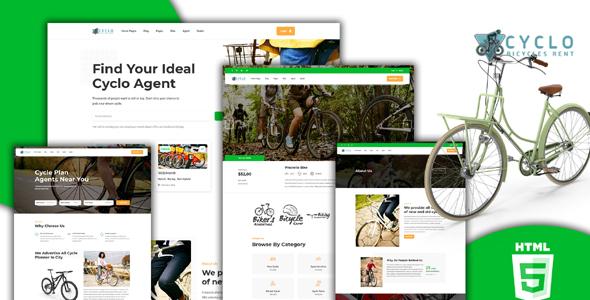 HTML5自行车相关的网站模板源码下载
