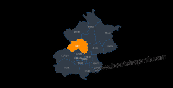 echarts北京市地图区块划分代码源码下载