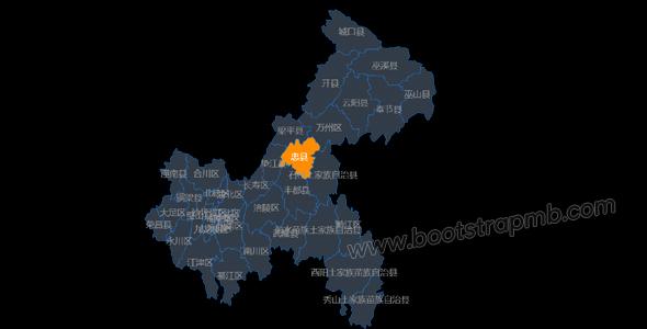js重庆市地图网页代码