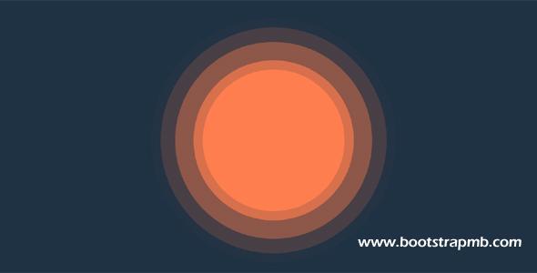 圆圈扩散css3动画特效代码