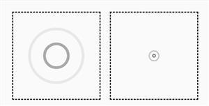 圆圈扩散波纹css动画特效
