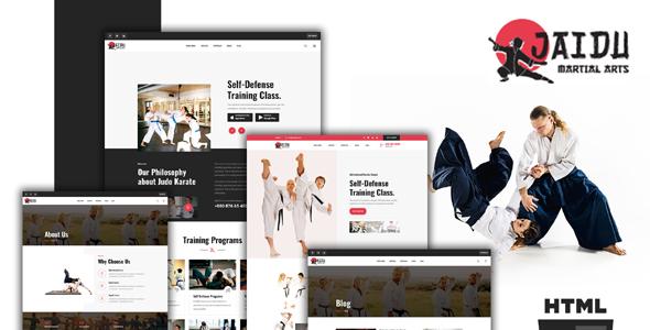 跆拳道武术培训机构网页模板