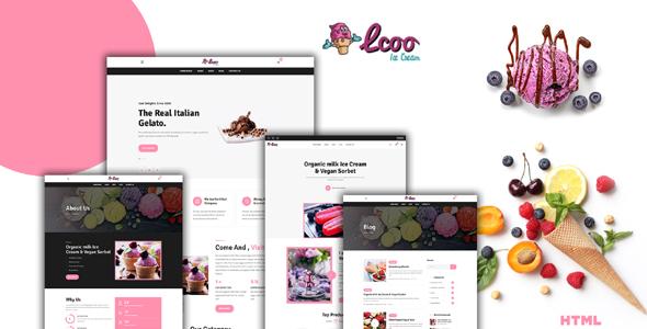 糖果甜品店电商购物网页模板