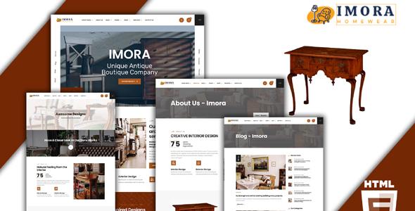 高端红木家具电商网站模板界面