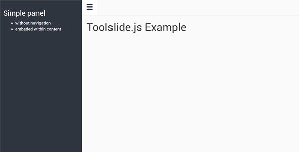 Toolslide.js侧边栏展开收缩源码下载