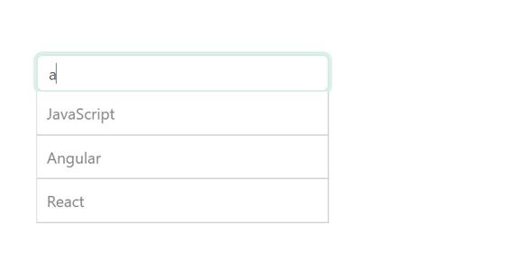 Autocomplete输入框自动搜索下拉源码下载