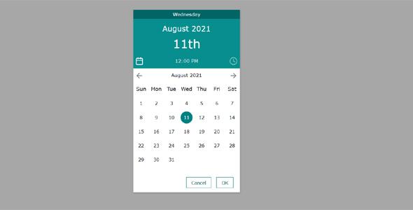 弹出式日期和时间选择js插件