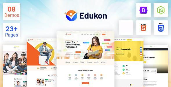 HTML5课程培训教学机构网站模板