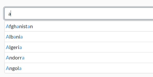 Bootstrap5自动完成Js插件