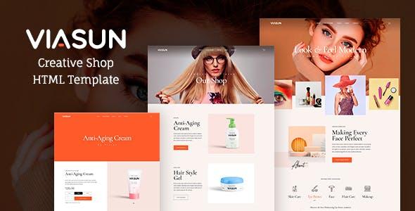 现代HTML5化妆品店电商网页模板