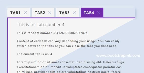 可关闭的tab选项卡插件