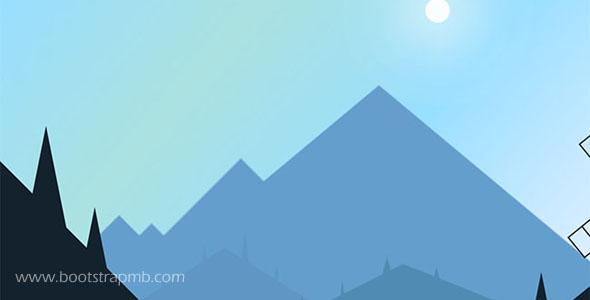 css3网页动画大山里场景