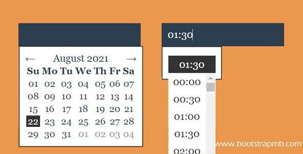 日期和时间选择器Js插件