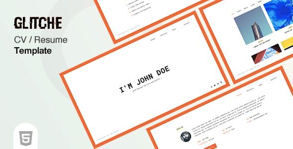 简约创意H5设计师网页模板
