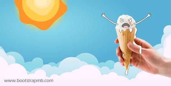 冰淇淋融化SVG搞笑动画