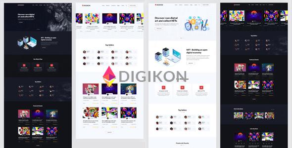 数字资产商品交易市场网站模板