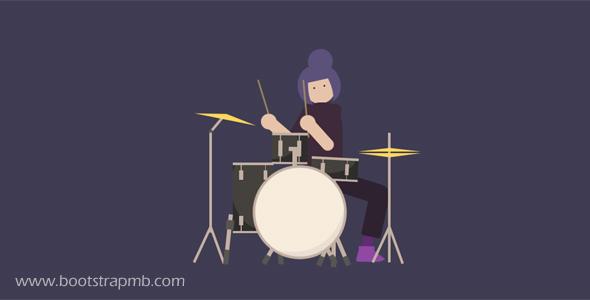 架子鼓演奏CSS3动画代码
